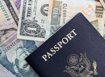 a passport & money