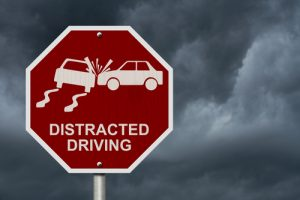distracted driving stop sign