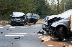 head-on car crash