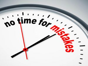 """""""no time for mistakes"""" clock"""